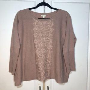 Garnet Hill Anthropologie Cashmere Sweater